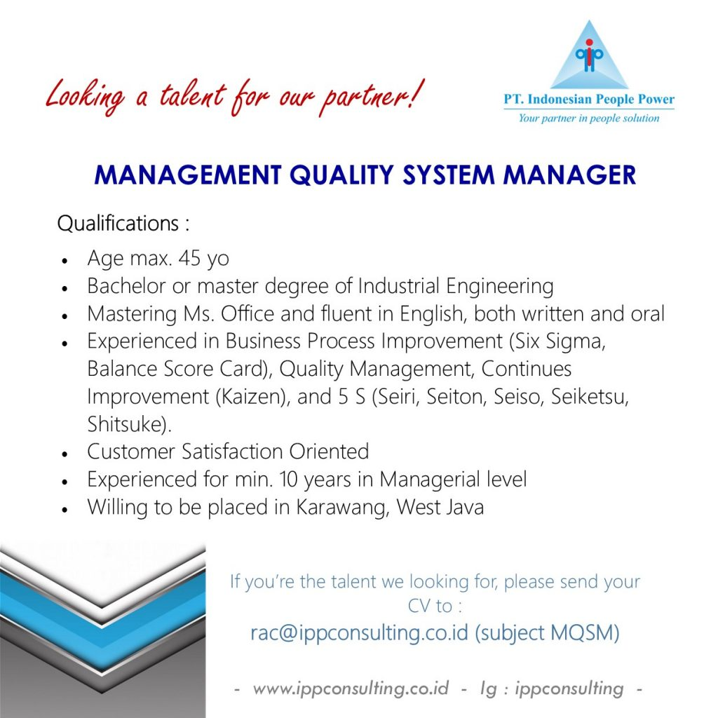 Management Quality System Manager