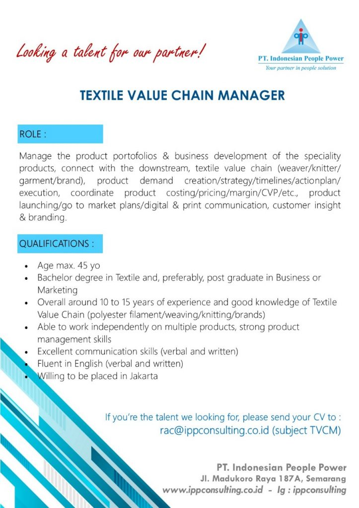 Textile Value Chain Manager